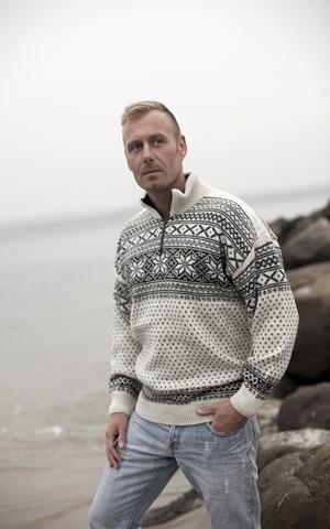 Setedals striktrøje fra Norge i 100% uld