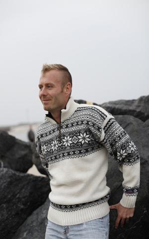 Sweater fra Norge i Telemark design & 100% ren uld