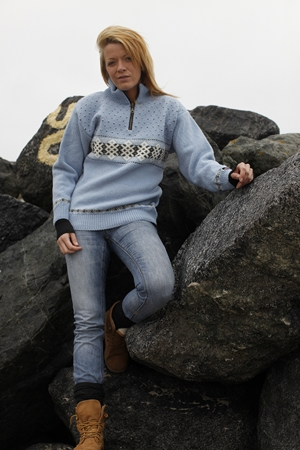 Smuk Norsk Norwool sweater i 100% uld
