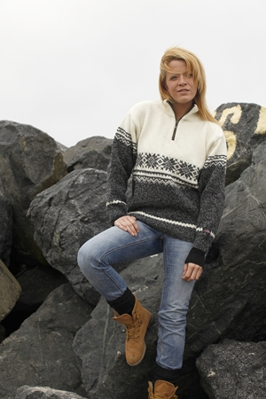 uld sweater fra Norge i ren ny uld