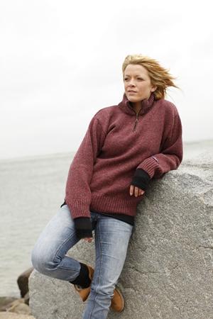 Norsk strik trøje fra Norwool i 100% ren ny uld