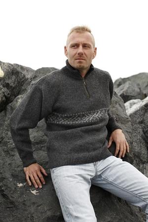 Norsk strik sweater fra Norwool i 100% ren ny uld