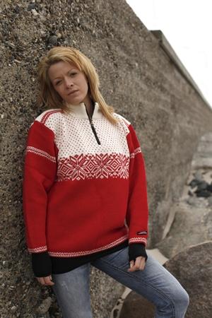 Flot Norwool sweater strik fra Norge i 100% ren ny uld