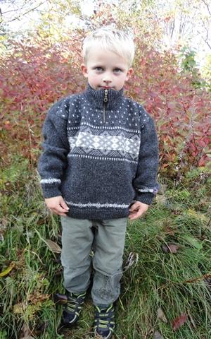 Uldtrøje børn 100% Norsk uld