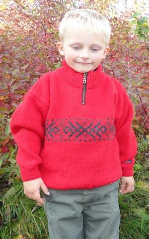 Børne uld sweater fra Norge