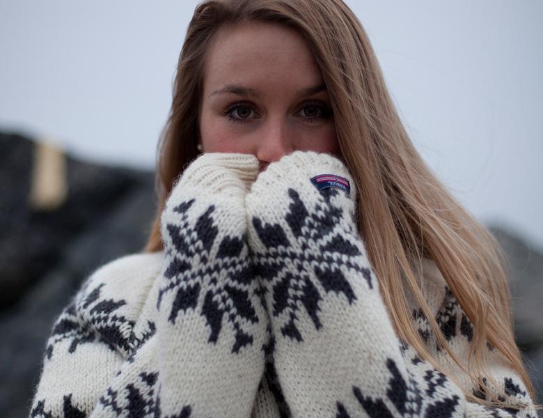Islænder sweater fra Norwool med is stjerner i 100% ren uld